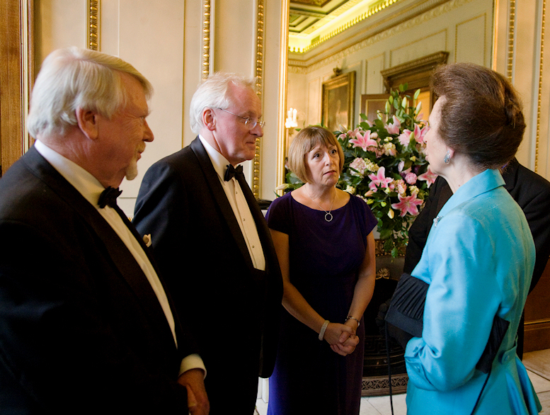 (With HRH The Princess Royal at HRH Prince Philip's 90th Birthday Dinner, Fishmongers' Hall, June 2011